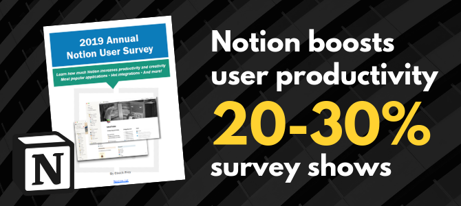 Notion boosts user productivity 20-30%, survey shows